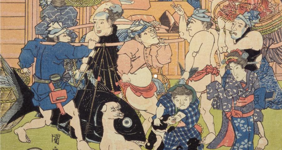 日本橋魚市繁栄図
